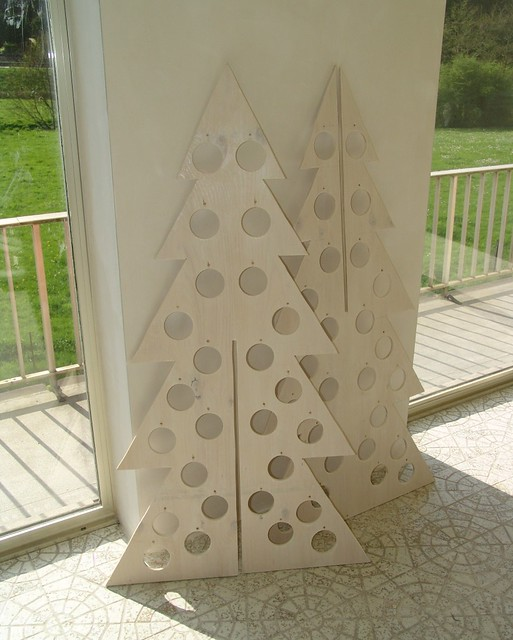 Plywood christmas tree panel composition here is my for Plywood christmas tree