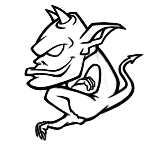 gargoyle cartoon character sketch