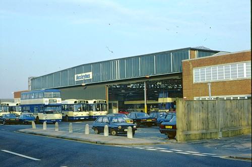 Bexleyheath (BX) bus garage in 1989 | Much of the ...