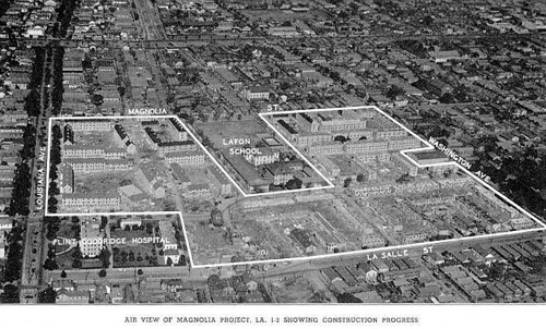 Aerial View Of Magnolia Projects Note Also Shows Old