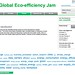 IBM Global Eco-Efficiency Jam theme cloud