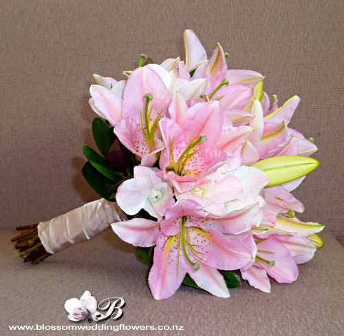 pink lily wedding bouquet pink orchid bouquet bridal bouquet of pale pink 6587