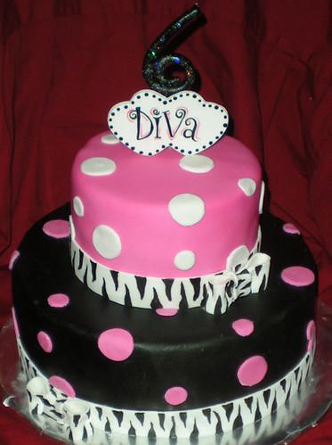 Diva Birthday Cake