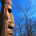 Giant Wooden Indian Head!