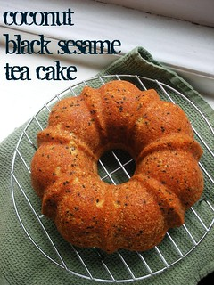 coconut black sesame tea cake | by awhiskandaspoon