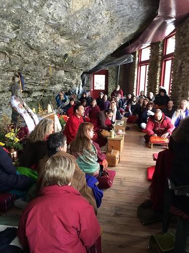 Practicioners at cave temple 4
