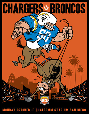 Chargers Vs Broncos The Poster Series Is A Total Of