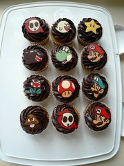 Mario themed chocolate toppers | by mycupofthea