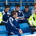 Road policing officers with Ross county players