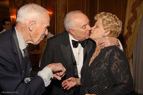 Bill Cunningham, Joseph Califano Jr, and his wife Hilary. | by weissfoto