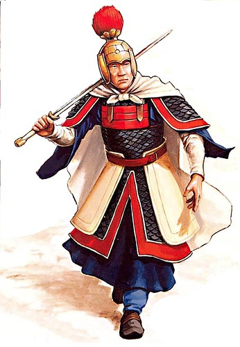 Chinese Warrior Illustration Of Michael Perry Showing A