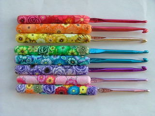Set of Special order crochet hooks | by polymerclaycreations