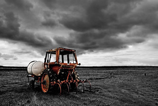 Tractor under a dark cloud | by ongopt50