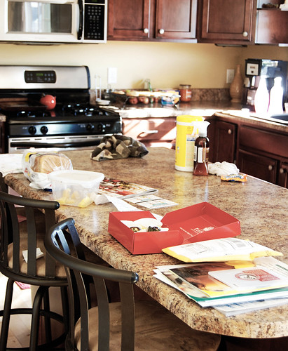 kitchen with a little mess | by I Should Be Folding Laundry