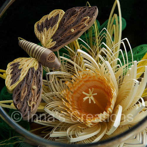 Quilling in a fishbowl, closeup | by Inna's Creations