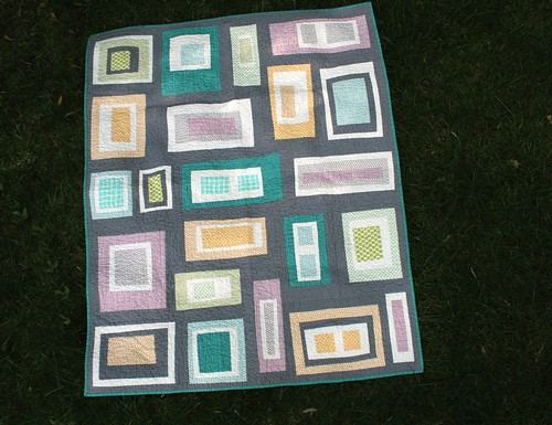 Rectangles & Gray Lap Quilt | by alissahcarlton