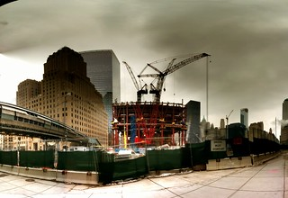Westside View of WTC 1 Construction | by p0ps Harlow