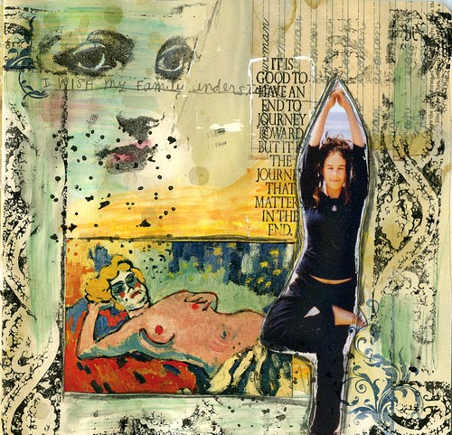 Collage in Sabrina Ward Harrison Journal | Mandy | Flickr Sabrina Ward Harrison Sketchbook
