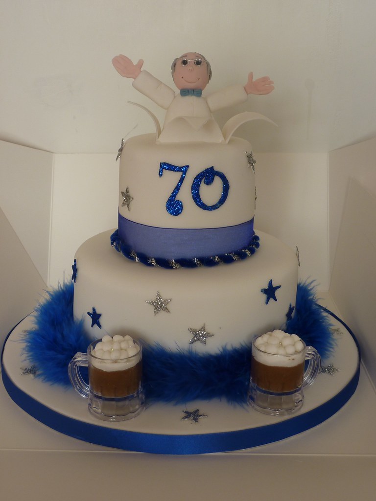 70th birthday cake Beer loving 70 year old birthday. I ...