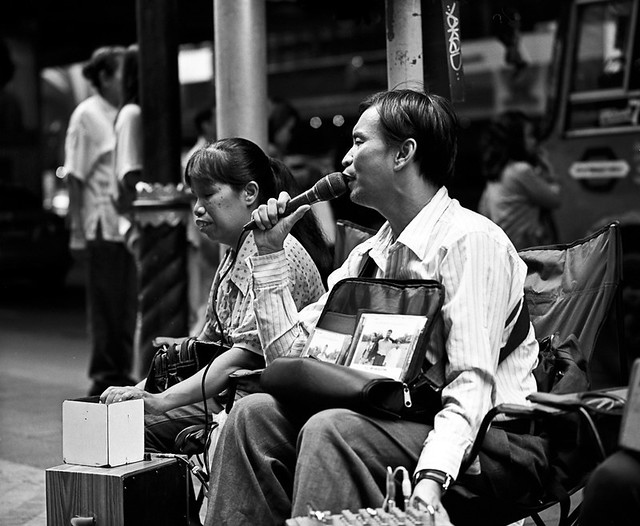 blind singers close up - Bangkok, city of angels