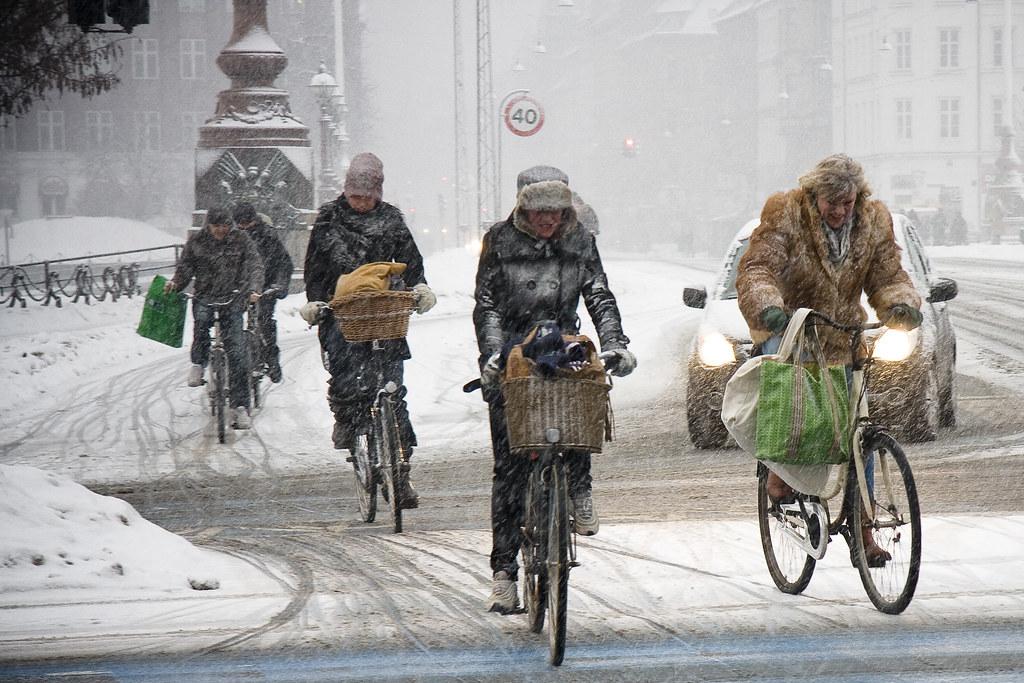 Cycling in Winter in Copenhagen