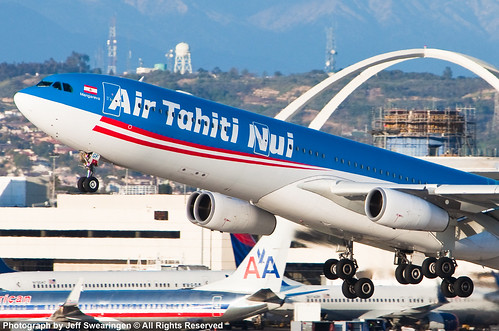 Air Tahiti Nui A340-300 F-OJGF taking off from LAX | by JeffSFO