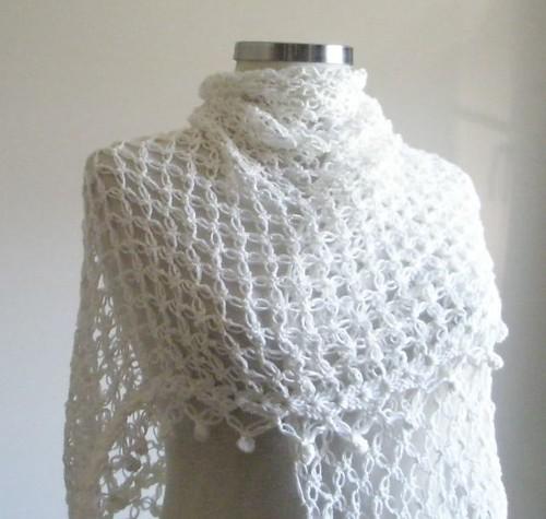 Ivory Shawl Crochet Elegant Bridal Wrap Wedding Shawl Flickr