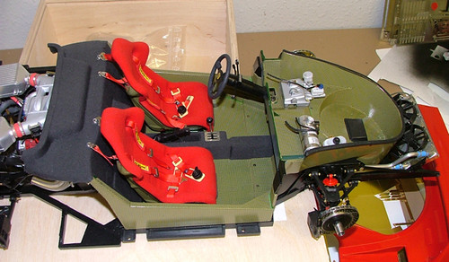 1 8 Scale Ferrari F40 The Chassis Finished In Kevlar Deca Flickr
