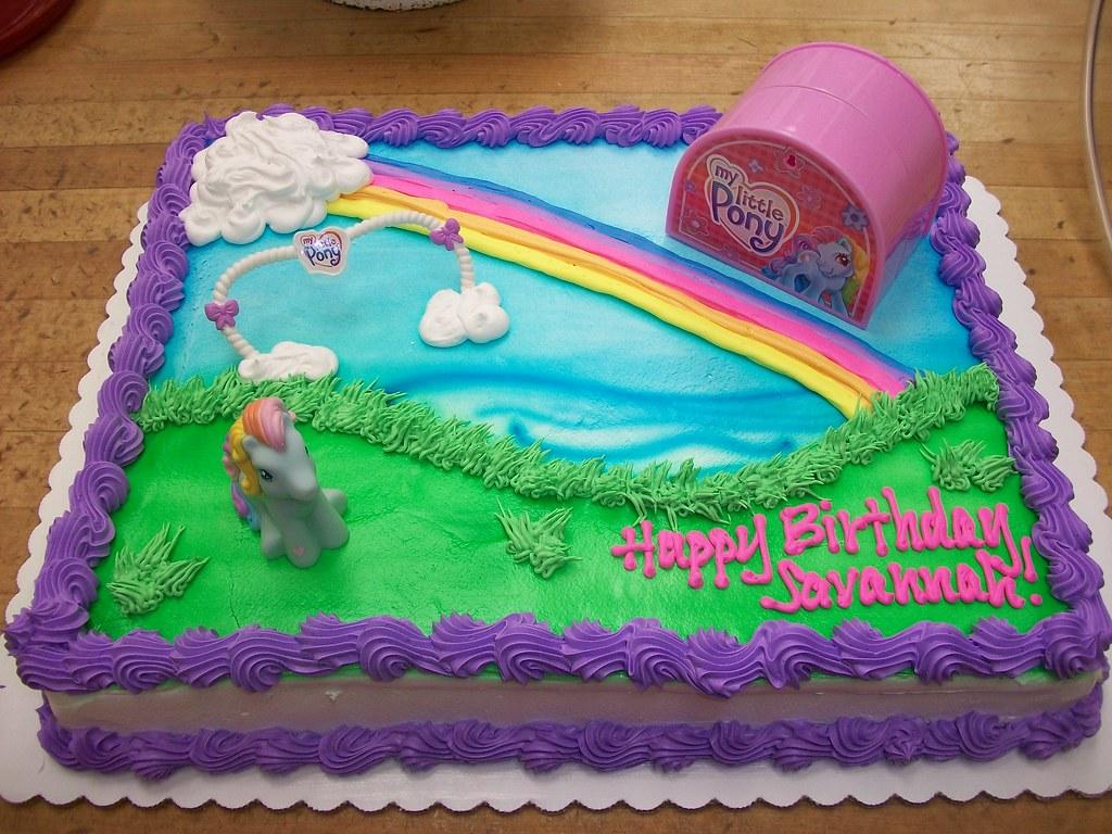 My Little Pony Birthday Ice Cream Cake