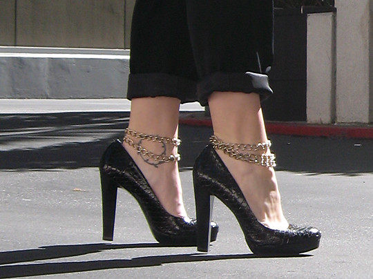 Strapey Shoes With  Inch Heels