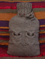 hoot water bottle cozy 1 | by veganknitter