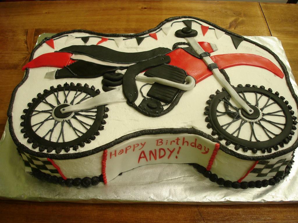 Dirt Bike Sheet Cake C 2009 Shortandsweetbakery Short