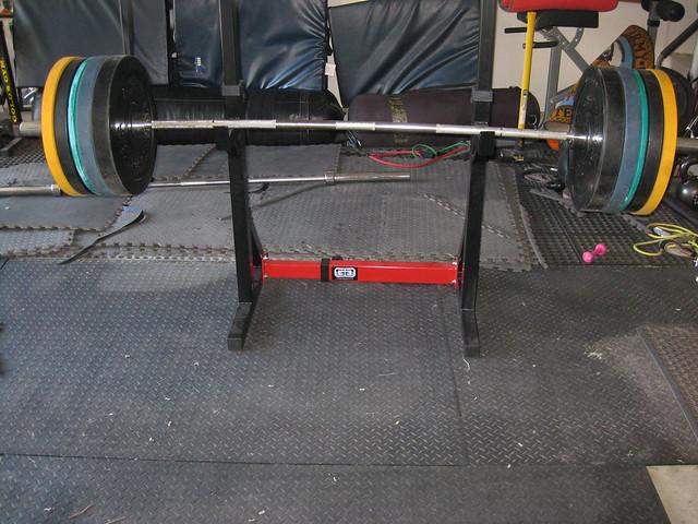 Garage gym collapsible squat rack flickr photo sharing