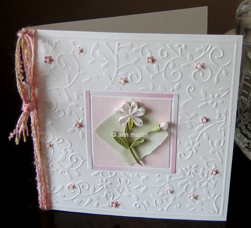 delicate embossed card | by all things paper
