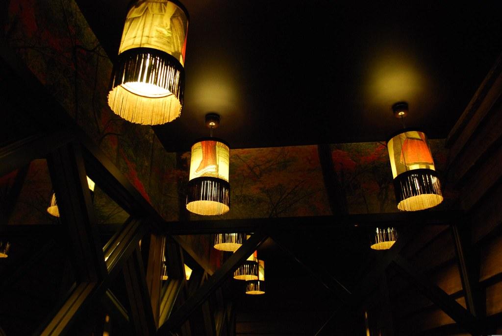 print lamp shades ichi ni izakaya with an. Black Bedroom Furniture Sets. Home Design Ideas