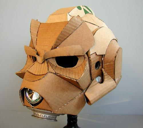 paper knight helmet template - cardboard project darkside jedi helmet built circa 2004
