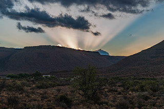 Sundown im Karoo Nationalpark