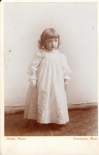 little girl in white dress by chafin of crookston mn   cabi  card