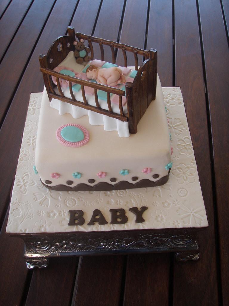 Mossy S Masterpiece Baby Crib Baby Shower Cake This