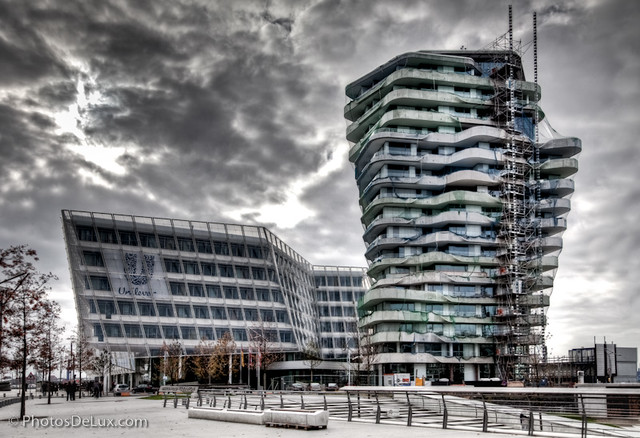 Marc O Polo Tower. Hamburg Hafencity Marco Polo Tower. Statue Of ...