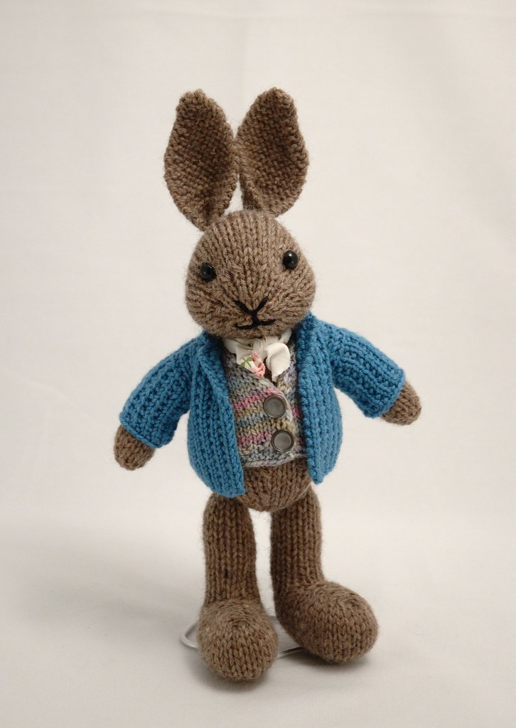 mr bunny sample for the new edition of fuzzy knits