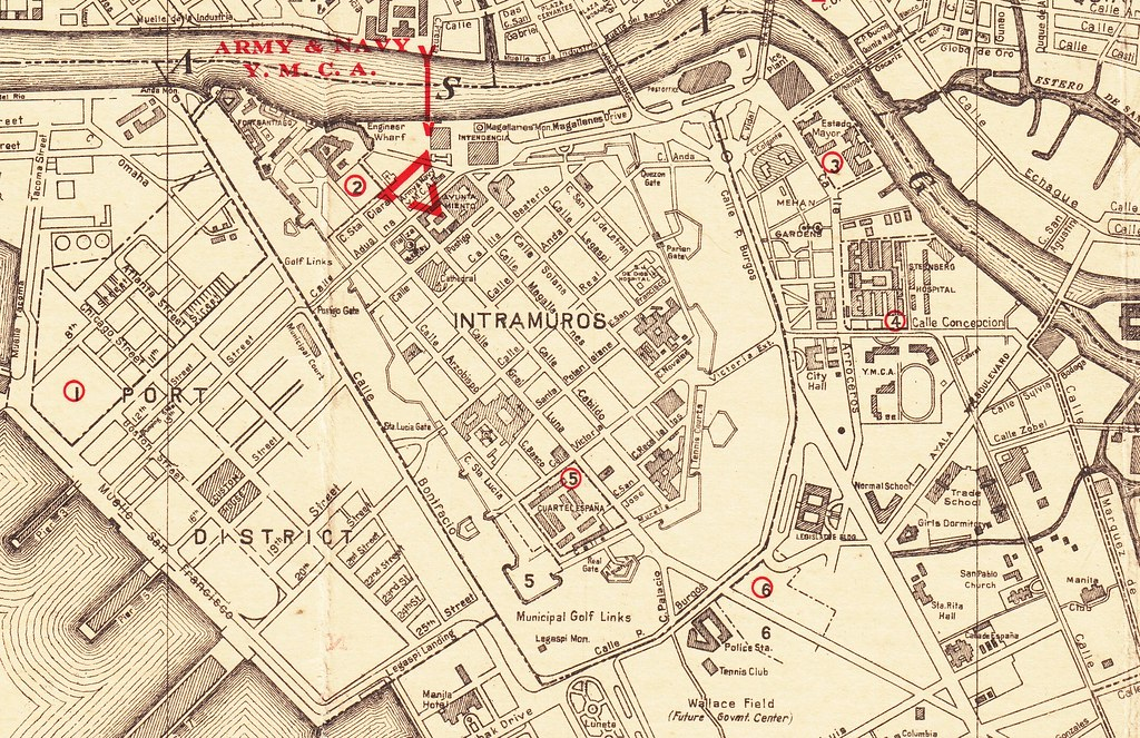 Intramuros Manila Philippinesearly 1930s map Go to the Flickr