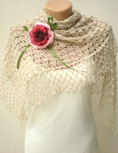 bridal crochet shawl | by crochetbutterfly