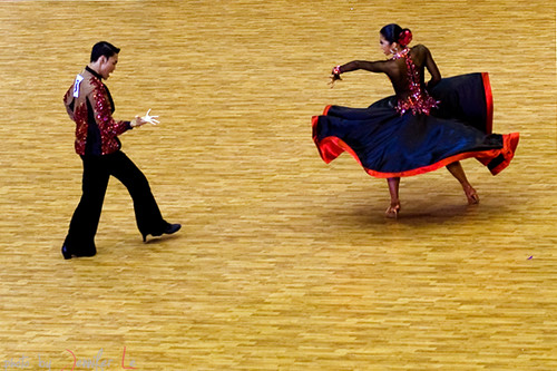 Paso Doble competition   The Thailand couple. Asian Indoor G ...