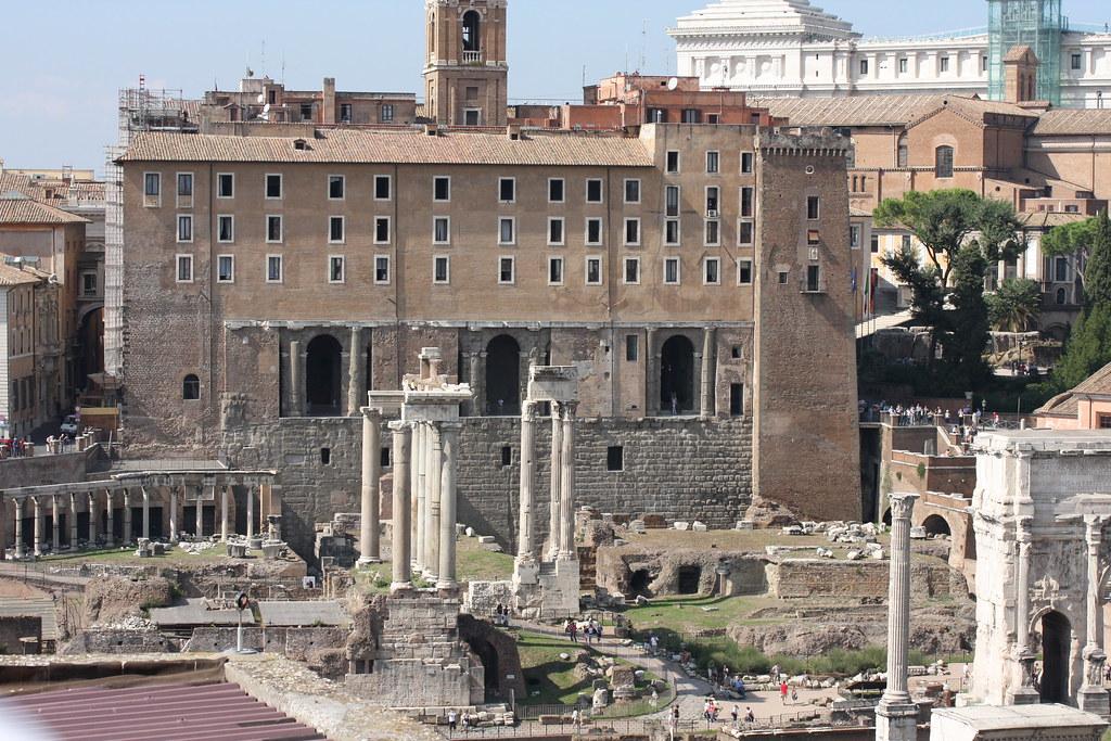 Tabularium Forum Romanum The Remains Of The Tabularium