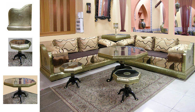 idrissi cuivre jaune salon marocain a petit prix salon mar flickr. Black Bedroom Furniture Sets. Home Design Ideas