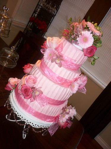 wedding cakes vancouver richmond pink buttercream wedding cake richmond b c pink 25872