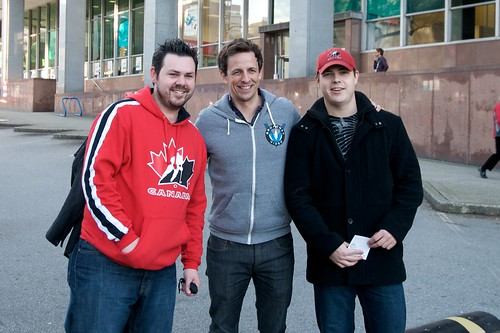 Seth Meyers in Vancouver Posing with Fans | by Duncan Rawlinson - @thelastminute - Duncan.co