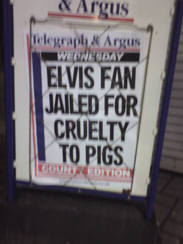 Elvis Fan Jailed For Cruelty To Pigs | by steve_huison