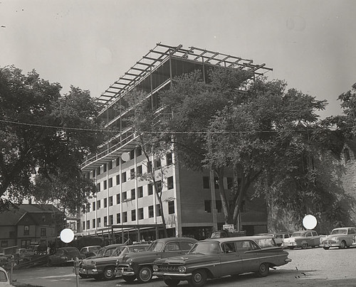 Extension building under construction | by uwdigitalcollections